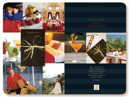 Relais & Châteaux gift certificate ad
