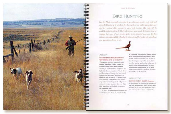 Lock & Hackle brochure, bird hunting