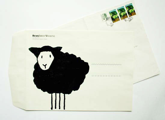 Black Sheep Woolens large envelope