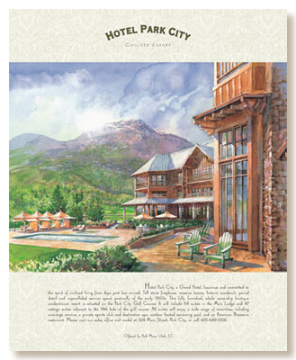 Hotel Park City, exterior illustration