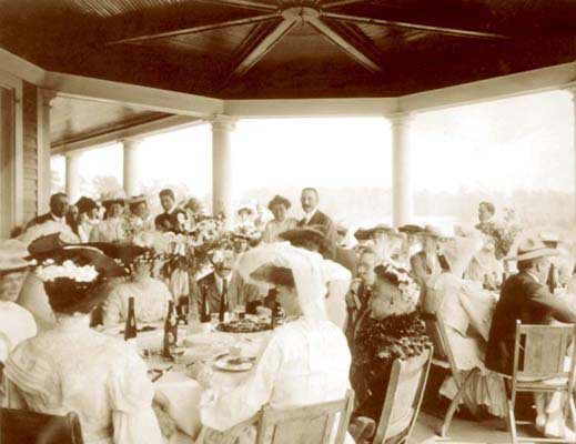 The Willcox old photo dining on porch